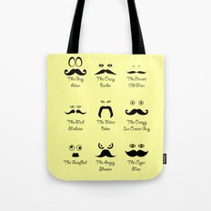 Eyes and Facial Hair Tote Bag