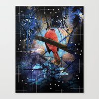The Cardinals Land In Blue Canvas Print