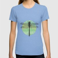 Dragonfly ~ The Summer S… Womens Fitted Tee Tri-Blue SMALL