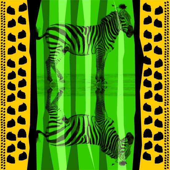 DOUBLE ZEBRA Art Print
