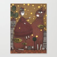 Just Around The Corner Canvas Print