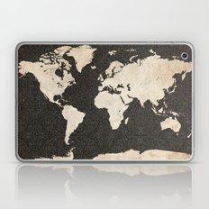 World Map - Ink Lines Laptop & iPad Skin