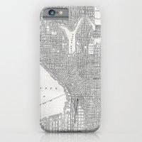 Vintage Seattle Map iPhone 6 Slim Case