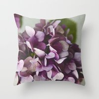 Fading Flowers Throw Pillow