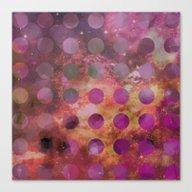 Galaxy In Purple Canvas Print