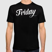 Friday Mens Fitted Tee Black SMALL
