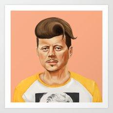Hipstory -  John F Kennedyn Art Print