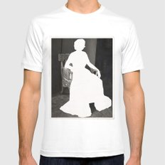 God Save the Queen SMALL White Mens Fitted Tee