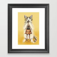 Framed Art Print featuring Big Cat by Anna Shell