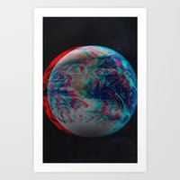 Earth Anaglyph  Art Print