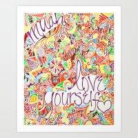 muah! love yourself. Art Print