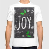 Holidays Joy Typography … Mens Fitted Tee White SMALL