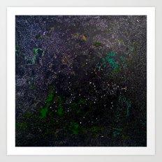 Southern Constellations (Green) Art Print
