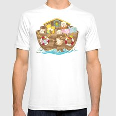 Baby Noah Ark Mens Fitted Tee SMALL White