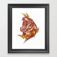 Tiger Shock Framed Art Print