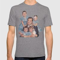 He's a family man Mens Fitted Tee Tri-Grey SMALL