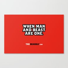 WHEN MAN AND BEST ARE ONE. Canvas Print