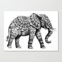 Ornate Elephant 3.0 Canvas Print