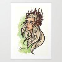 Thranduil Art Print