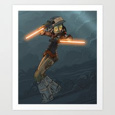 LaserGirl Art Print