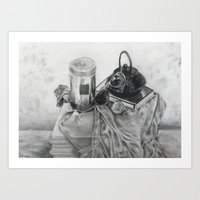 Object study in conte crayon Art Print