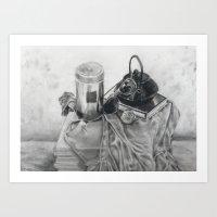 Object Study In Conte Cr… Art Print