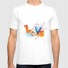 Love Mens Fitted Tee SMALL White
