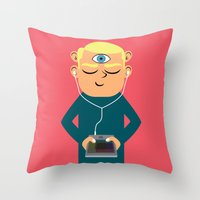 Throw Pillow featuring Evolution: the Near Future by Mouki K. Butt