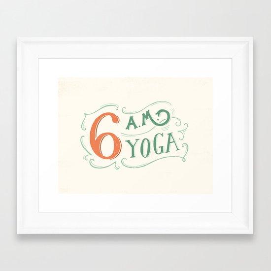 6AM Yoga Framed Art Print