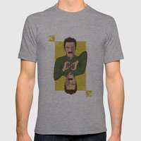 Walter White King of Hearts Mens Fitted Tee Athletic Grey SMALL