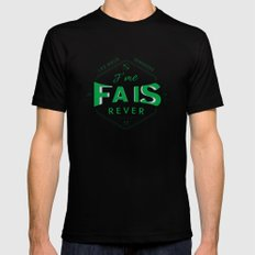 J'me fais rêver - Will Black SMALL Mens Fitted Tee