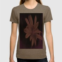 Psychedelic Flower Womens Fitted Tee Tri-Coffee SMALL