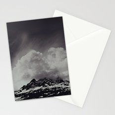 Mountainscape Black and White Stationery Cards