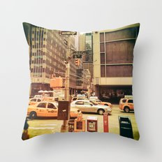 Retro Photograph Of New … Throw Pillow