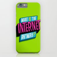 iPhone & iPod Case featuring What is the internet anyway? by Chris Piascik