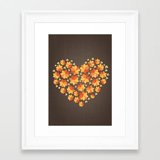 Denim Heart Framed Art Print