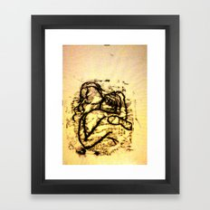 Lust Framed Art Print