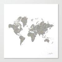 World News Canvas Print