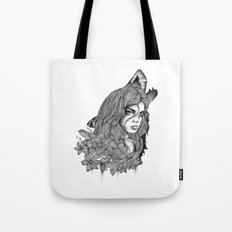 IN THE COMPANY OF WOLVES Tote Bag