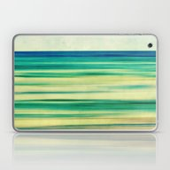 Stripes Of Blue And Gree… Laptop & iPad Skin