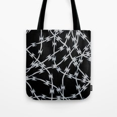 Trapped Black Tote Bag