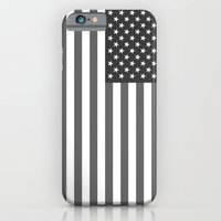 "iPhone Cases featuring National flag of the USA - Authentic ""G-spec"" 10:19 scale - B&W version by BruceStanfieldArtist North America"