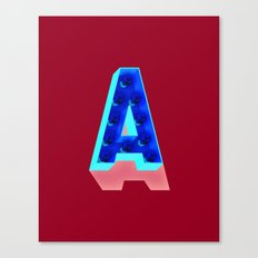 A in lights Canvas Print