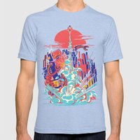 Smash! Zap!! Zooom!! - G… Mens Fitted Tee Tri-Blue SMALL