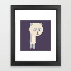 Letter P // Animal Alphabet // Panda Framed Art Print