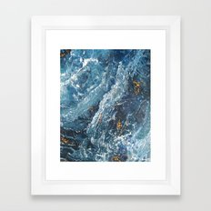 Another Word for Blue Framed Art Print