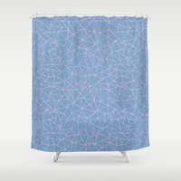 Ab Repeat Hot Pink B Shower Curtain