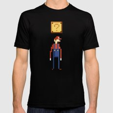 Pixel Plumber Mens Fitted Tee Black SMALL