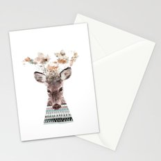 in nature deer Stationery Cards