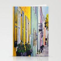 Row Of Color Stationery Cards